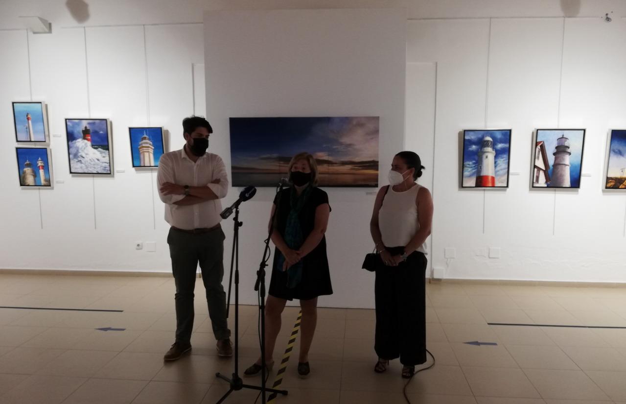 """El Centro Cultural """"Los Álamos de La Antilla"""" acoge la exposición """"Los ojos del mar"""" de María Luisa Sacristán"""