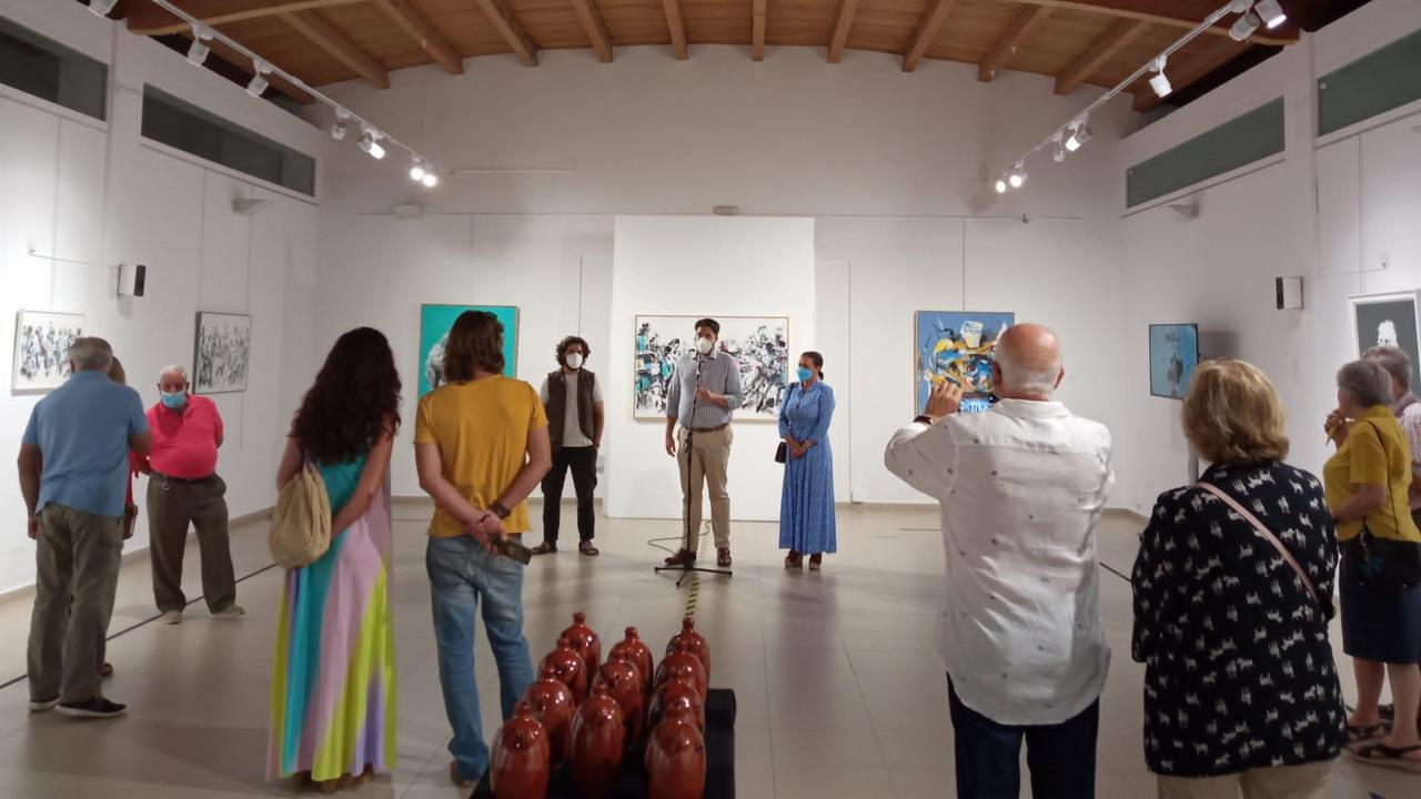 Inaugurada la exposición del artista ibicenco Patricio Hidalgo, «Sueño de una fiesta flamenca»