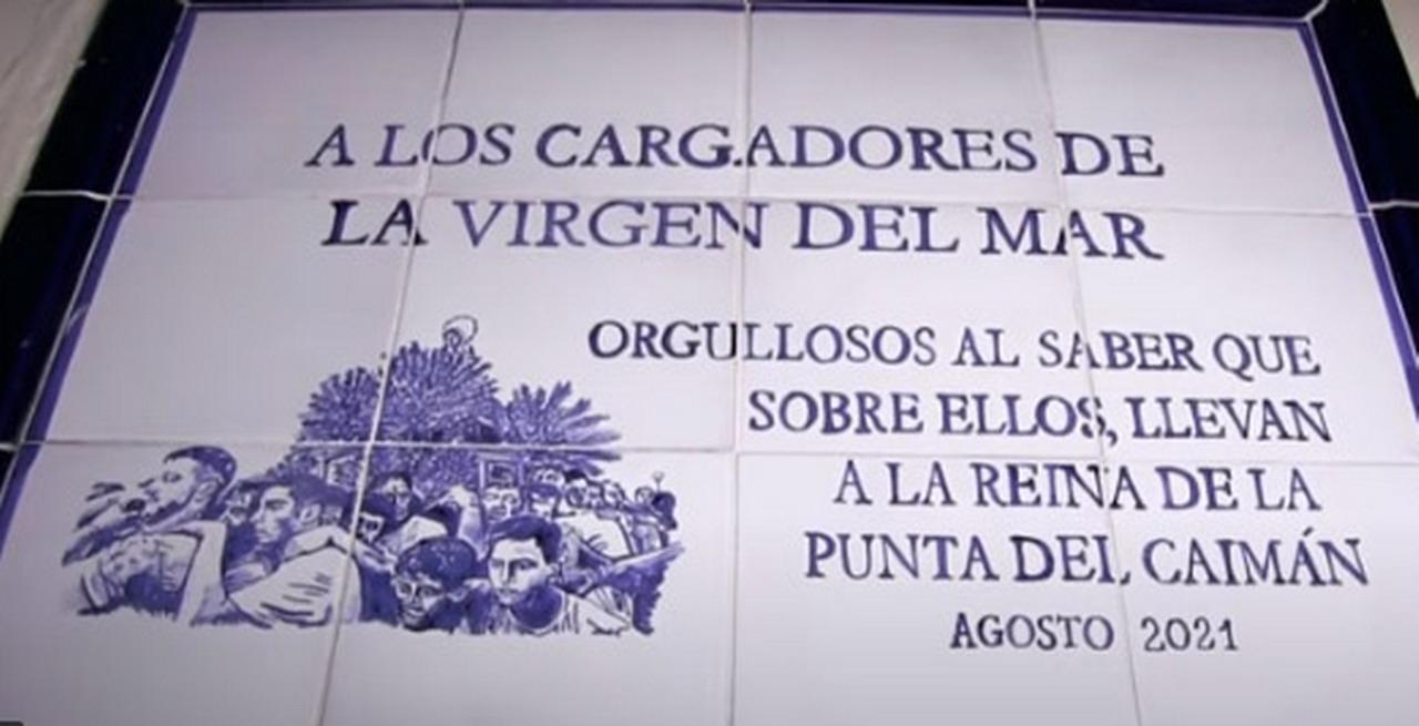 Inauguración en Isla Cristina del Monolito dedicado a los Costaleros de la Virgen del Mar